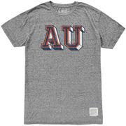Auburn Retro Brand Block Au Mock Twist Tee