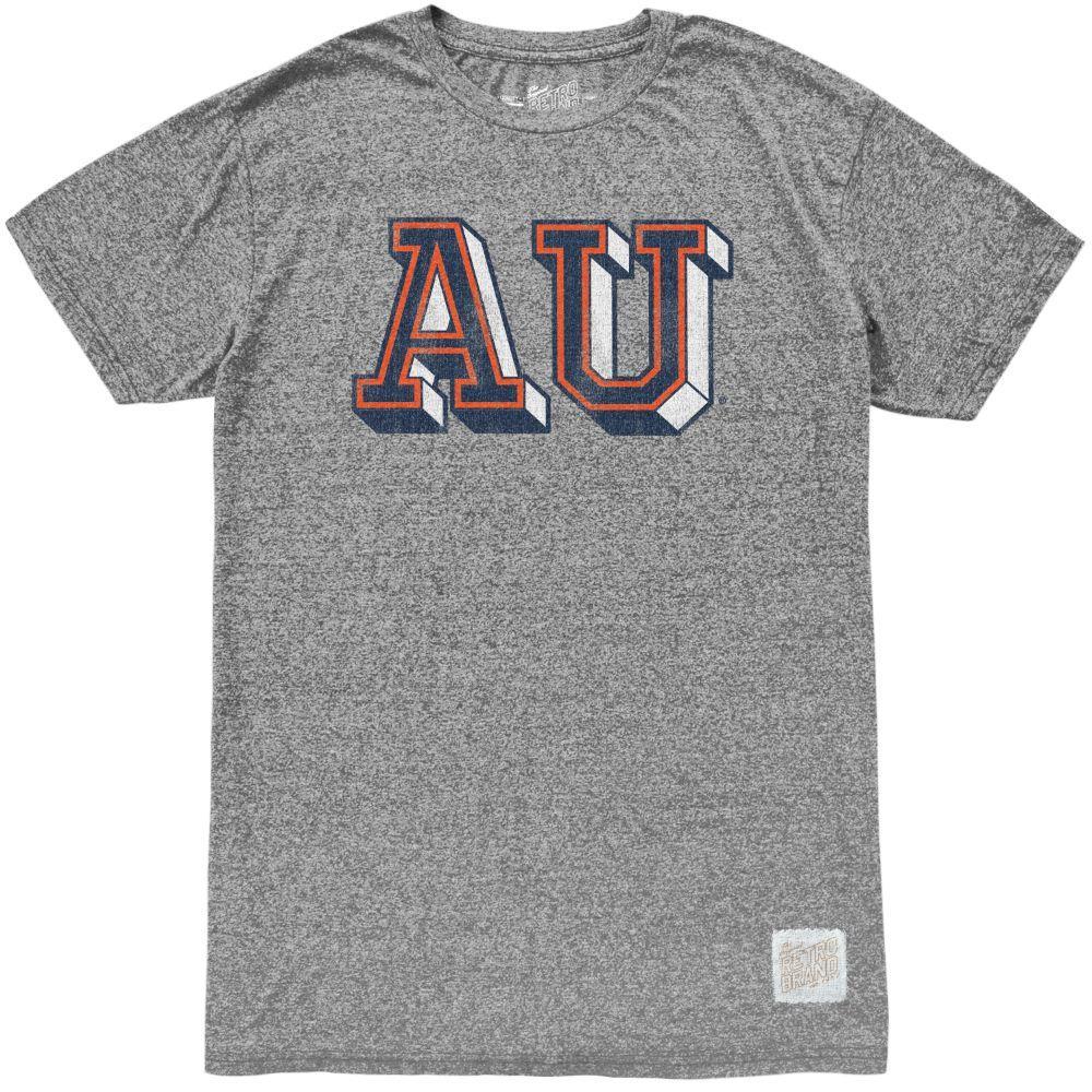 Auburn Retro Brand Block Au Mock Twist Tee