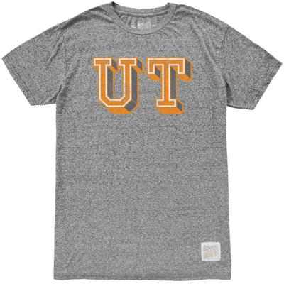 Tennessee Retro Brand Block UT Mock Twist Tee