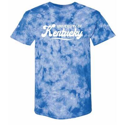Kentucky Summit Retro Script Short Sleeve Comfort Colors Tie Dye Tee