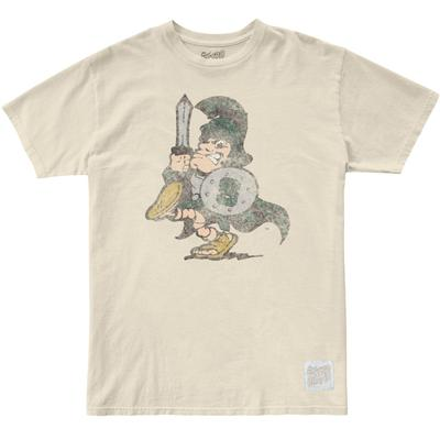 Michigan State Retro Brand Marching Spartan Vintage Tee
