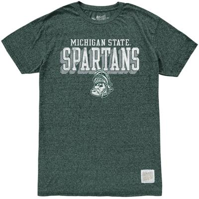 Michigan State Retro Brand Straight Mock Twist Tee
