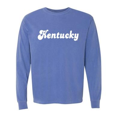 Kentucky Summit Retro Font Long Sleeve Comfort Colors Tee