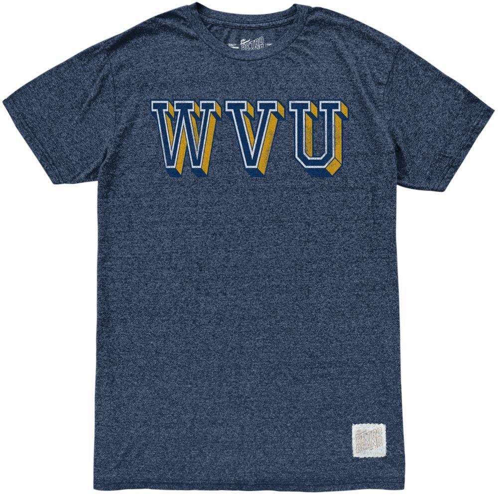 West Virginia Retro Brand Block Wvu Mock Twist Tee