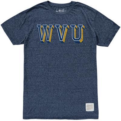 West Virginia Retro Brand Block WVU Mock Twist Tee