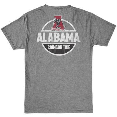 Alabama Retro Brand Bold Circle Tee