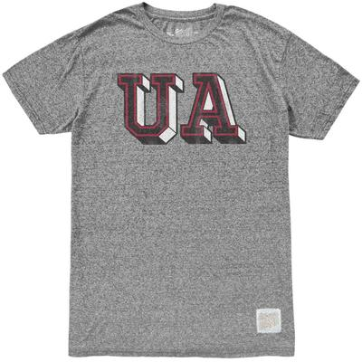 Arkansas Retro Brand Block UA Mock Twist Tee