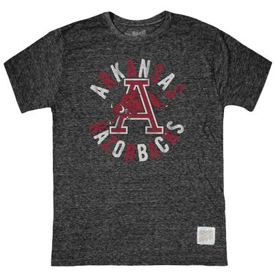 Arkansas Retro Brand Circle Leaping Hog Streaky Tee