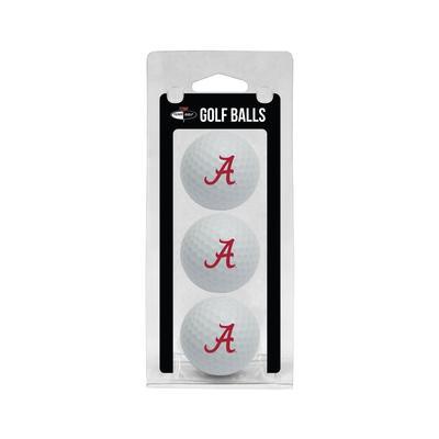 Alabama 3 Pack Golf Balls