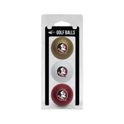 Florida State 3 Pack Golf Balls