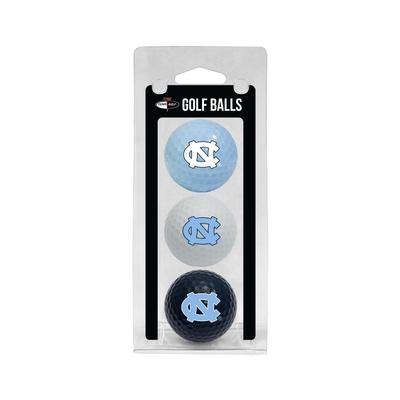 UNC 3 Pack Golf Balls