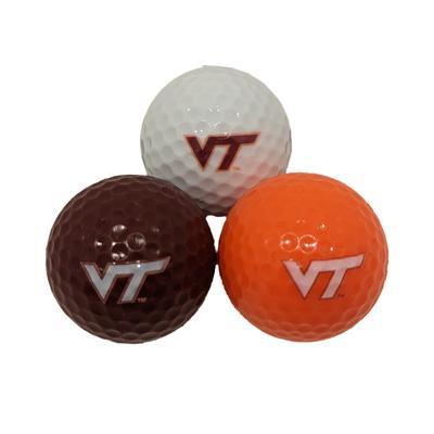 Virginia Tech 3 Pack Golf Balls