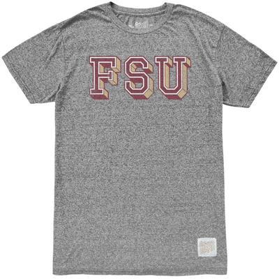 Florida State Retro Brand Block FSU Mock Twist Tee