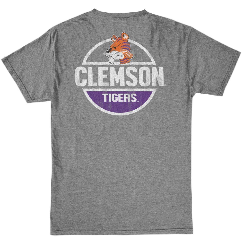 Clemson Retro Brand Bold Circle Tiger Tee