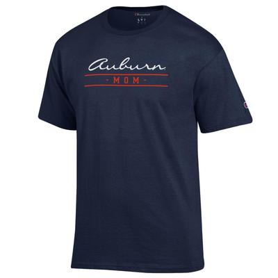 Auburn Champion Women's Script Bar Mom Tee