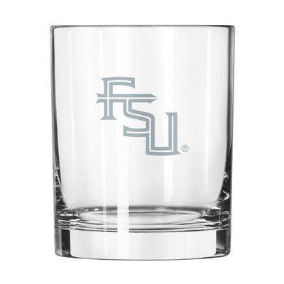 Florida State 14 oz Frost Rock Glass
