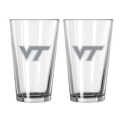 Virginia Tech 16 oz Frost Pint Glass