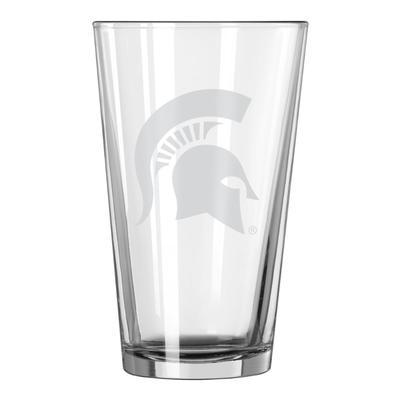 Michigan State 16 oz Frost Pint Glass