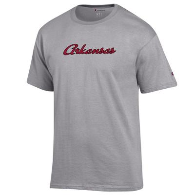 Arkansas Champion Women's Basic Script Tee