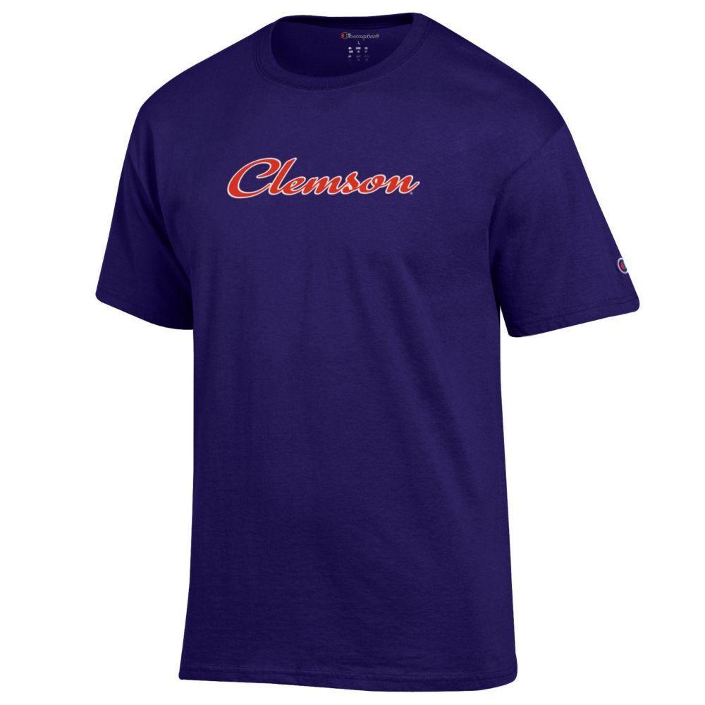Clemson Champion Women's Basic Script Tee