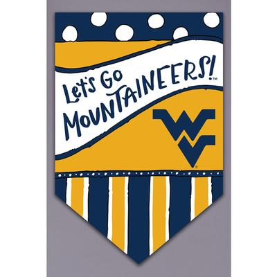 West Virginia Magnolia Lane Lets Go Mountaineers Garden Flag