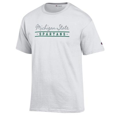 Michigan State Champion Women's Script Bar Mascot Tee