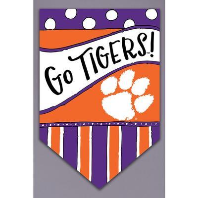 Clemson Magnolia Lane Go Tigers Garden Flag