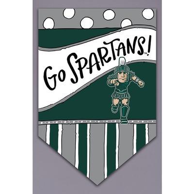 Michigan State Magnolia Lane Go Spartans Garden Flag