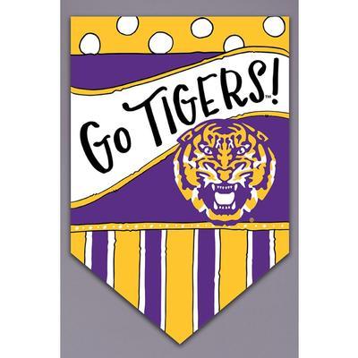 LSU Magnolia Lane Go Tigers Garden Flag