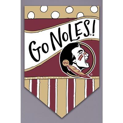 Florida State Magnolia Lane Go Noles Garden Flag