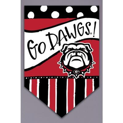 Georgia Magnolia Lane Go Dawgs Garden Flag