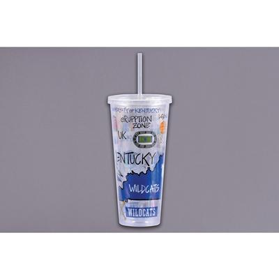Kentucky Magnolia Lane 22 oz Tumbler with Straw