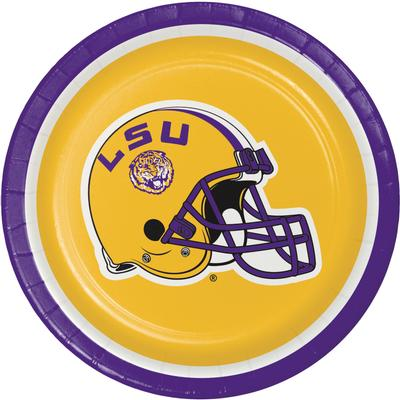 LSU 8 Count Paper Plates