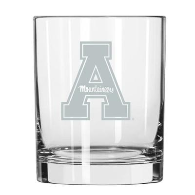 Appalachian State 14 oz Frost Rock Glass