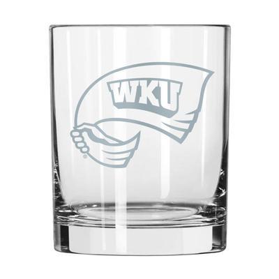 Western Kentucky 14 oz Frost Rock Glass