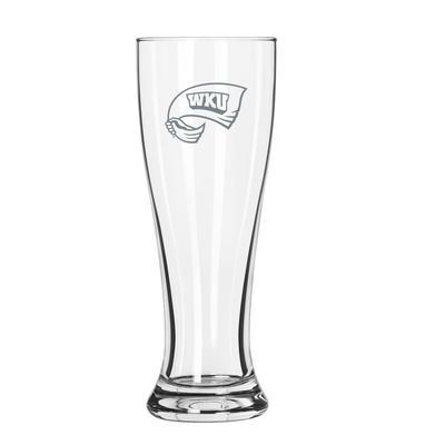Western Kentucky 16 oz Frost Pilsner Glass