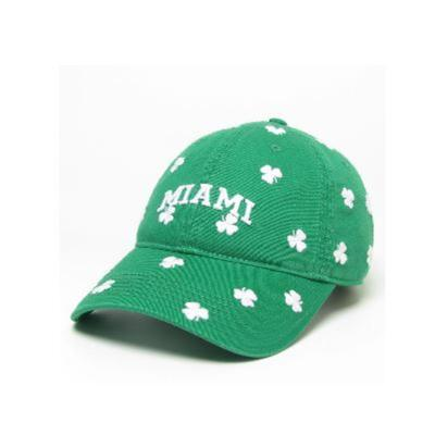 Miami League Shamrock Adjustable Hat
