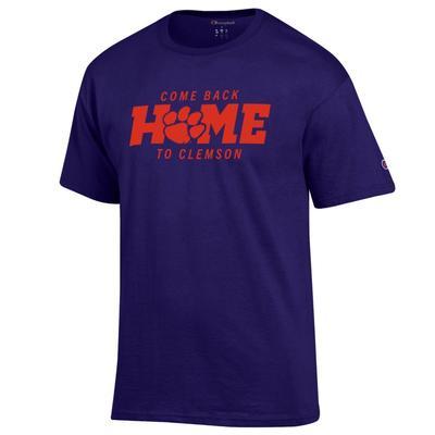 Clemson Champion Come Back Home Tee PURPLE