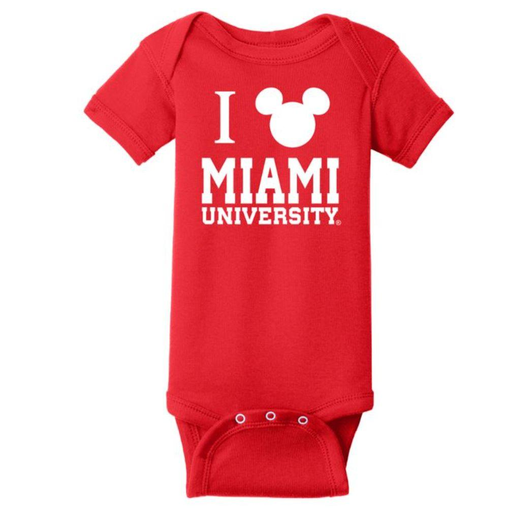 Miami Blue 84 Infant Disney Miami Logo Onesie