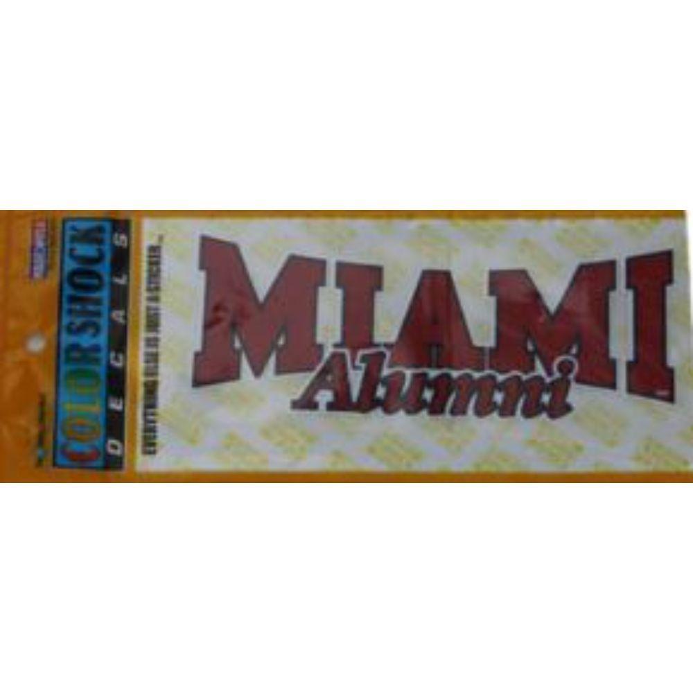 Miami Alumni Decal