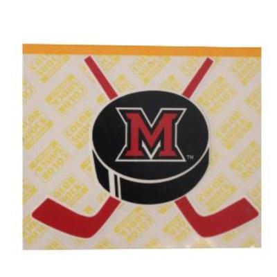 Miami M Hockey Sticks Logo Decal