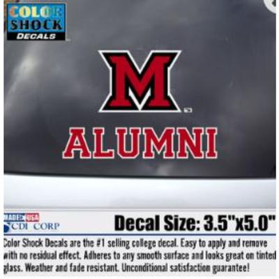 Miami M Over Alumni Decal
