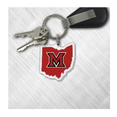 Miami M in Ohio Logo Key Chain