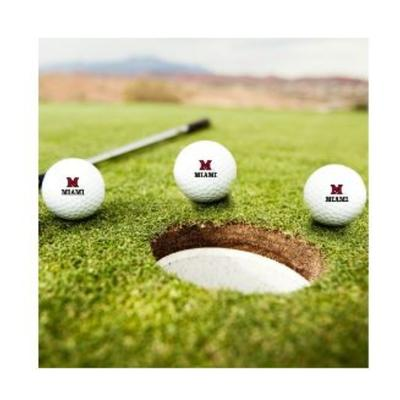 Miami M Over Miami Golf Balls