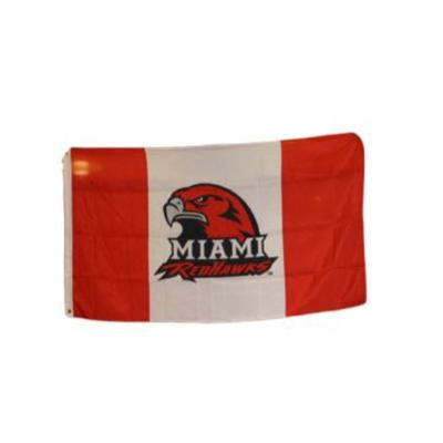 Miami Red Hawk Logo House Flag