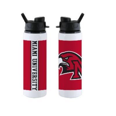 Miami Red Hawk Logo Water Bottle