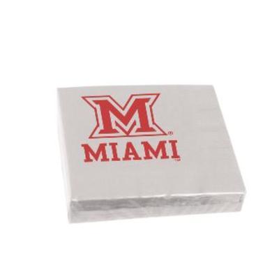 Miami M Logo Beverage Napkins