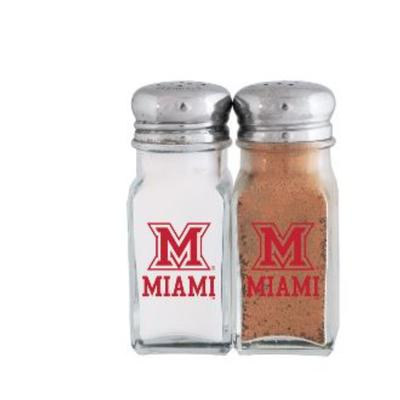 Miami M Logo Salt and Pepper Shakers