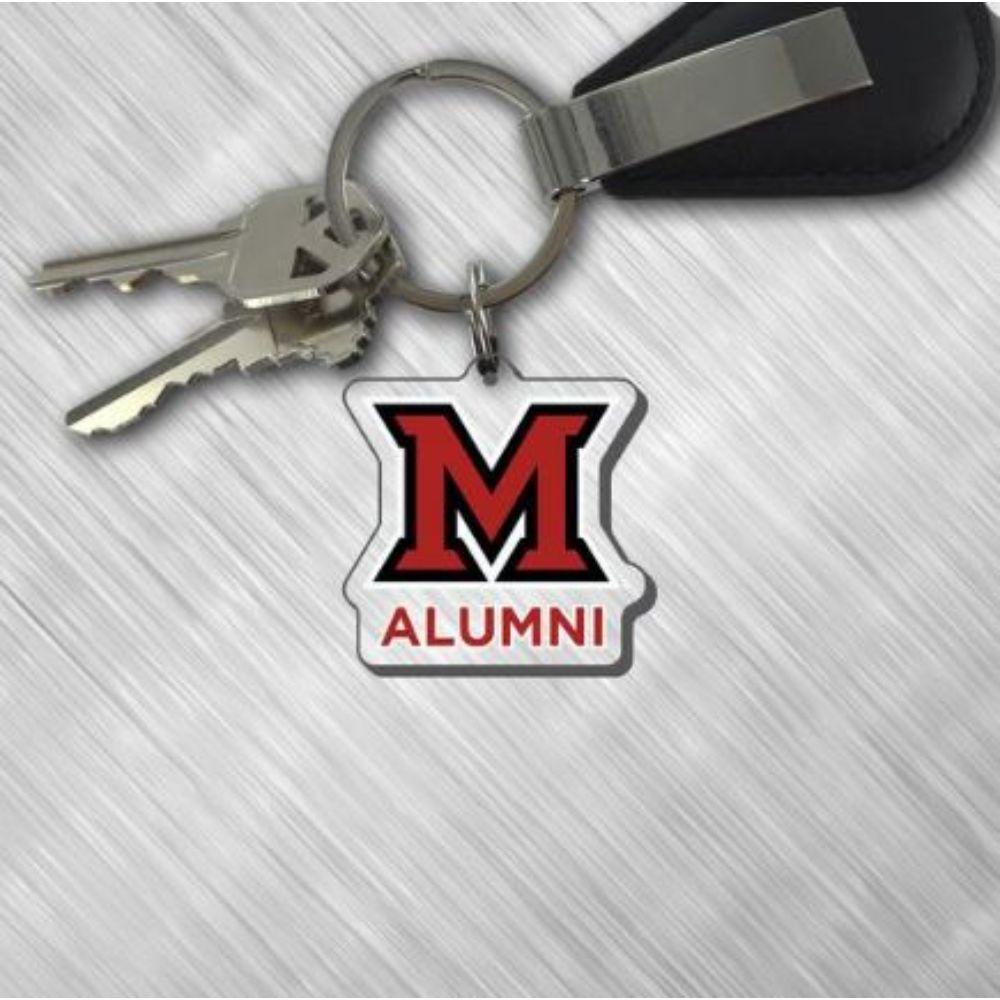 Miami Alumni M Over Miami Logo Key Tag