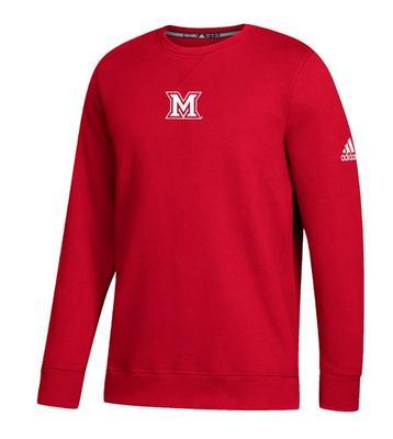 Miami Adidas Men's M Logo Fleece Crew